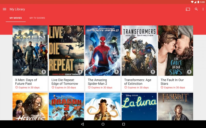 Kini Bebas Download Film di Google Play Store