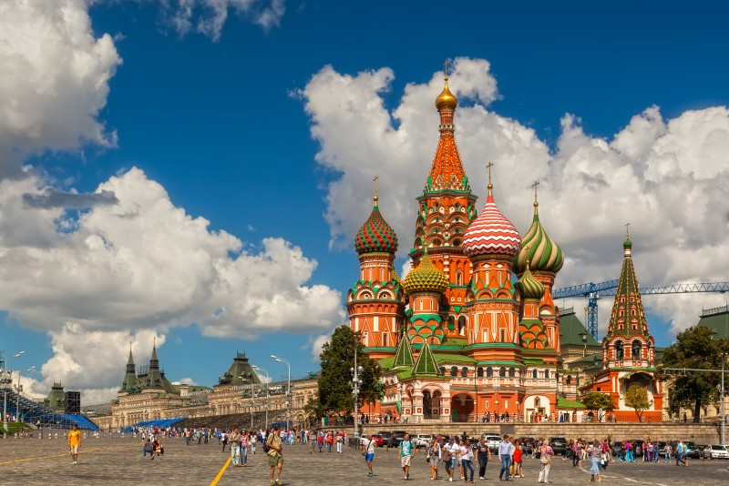 2. St. Basil's Cathedral, Moskow